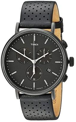 Timex Fairfield Chrono Leather (Brown/White) Watches