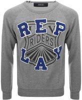 Replay Logo Sweatshirt Grey