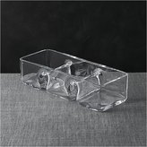 Crate & Barrel Three-Part Rectangle Dish