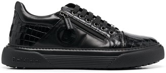 Baldinini Crocodile-Effect Leather Sneakers