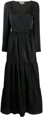 Baum und Pferdgarten long-sleeve maxi dress