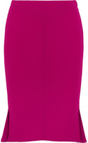 Roland Mouret Nash Wool-crepe Skirt - Pink