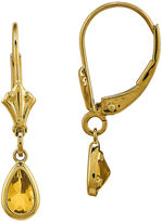 FINE JEWELRY Genuine Yellow Citrine 14K Yellow Gold Pear Drop Earrings