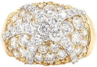 London Fine Jewelry 14K Two-Tone 2.49 Ct. Tw. Diamond Half-Eternity Ring