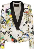 Roberto Cavalli Printed Silk-Satin Twill Blazer