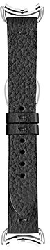 Fendi Selleria Black Leather Watch Strap, 18mm
