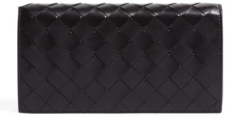 Bottega Veneta Leather Intrecciato Bifold Wallet