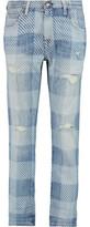 Current/Elliott The Fling Plaid Low-Rise Boyfriend Jeans