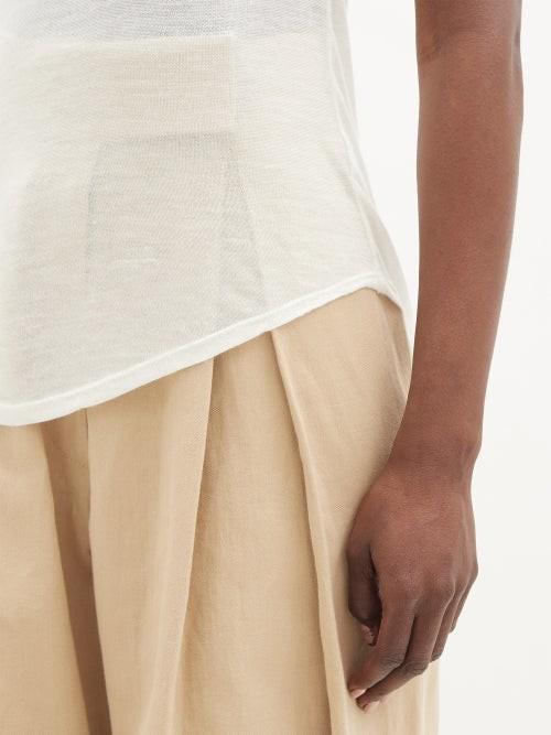 Thumbnail for your product : FRANCES DE LOURDES Max Cashmere-blend Jersey Tank Top - Cream