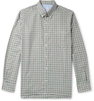 Freemans Sporting Club Cs-1 Button-Down Collar Gingham Cotton-Twill Shirt