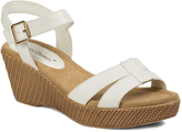 Pierre Dumas White Angela Wedge Sandal
