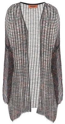 Missoni Frayed Metallic Open-knit Cardigan