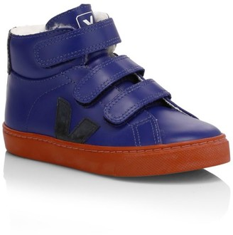 Veja Baby's, Little Kid's & Kid's Esplar Shearling & Leather Mid-Top Sneakers