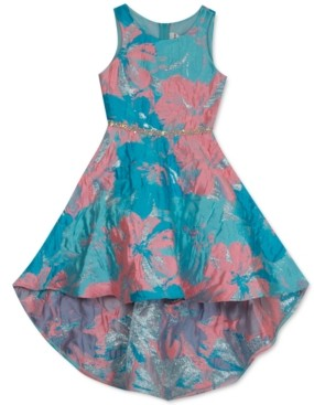 Rare Editions Big Girls High-Low Brocade Dress
