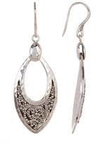 Lois Hill Sterling Silver Granulated Petal Drop Earrings