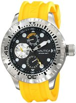 Nautica Men's N15107G BFD 100 Multi Analog Display Japanese Quartz Yellow Watch