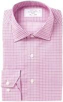 Lorenzo Uomo Graph Check Trim Fit Dress Shirt