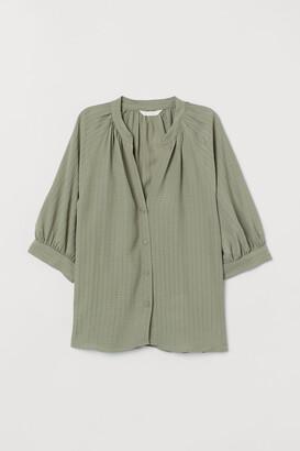 H&M Pattern-weave Blouse