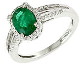 Effy Brasilica 14Kt. White Gold Emerald and Diamond Ring