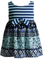 Youngland Baby Girl Print Knot-Front Dress
