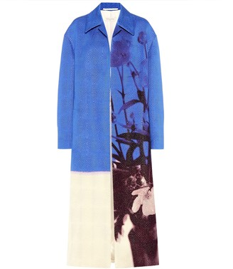 Dries Van Noten Printed brocade coat
