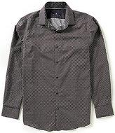Hart Schaffner Marx Geo Print Long-Sleeve Woven Shirt