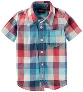 Osh Kosh Woven Plaid Shirt (Toddler/Kid) - Plaid - 2T