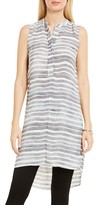 Vince Camuto Women's Stripe Henley Tunic