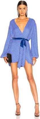 retrofete for FWRD Gabrielle Robe Dress in Teal Rainbow | FWRD