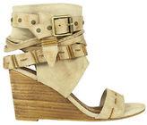 Naughty Monkey Lasalle Buckle Wedge Sandals
