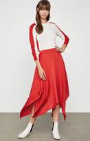 BCBGMAXAZRIA Long Satin Skirt