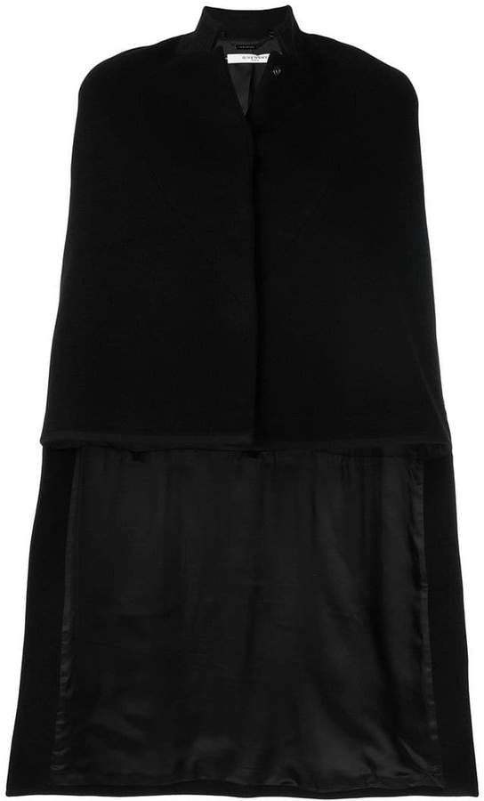 Givenchy asymmetric cape coat