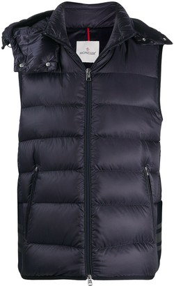 Moncler Logo Print Quilted Zipped Gilet
