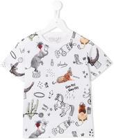 Stella McCartney 'Arlo Roll Up' print T-shirt