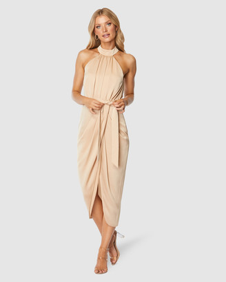 Pilgrim Women's Nude Midi Dresses - Addy Midi Dress - Size One Size, 8 at The Iconic