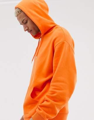Asos Design DESIGN oversized hoodie in orange