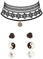 Charlotte Russe Choker Necklaces & Earrings Set