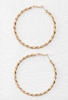 Forever 21 Twisted Hoop Earrings