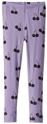 Mini Rodini Cherry Wool Leggings (Toddler/Little Kids/Big Kids) (Purple) Girl's Clothing