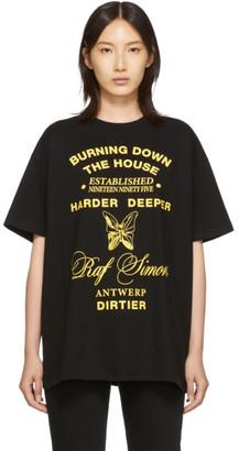 Raf Simons Black Oversized Harder Deeper T-Shirt
