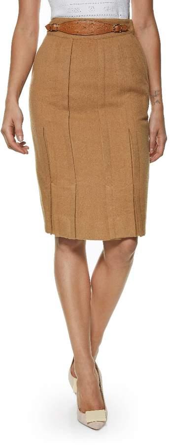 37e72ee28 Womens Camel Pencil Skirt - ShopStyle