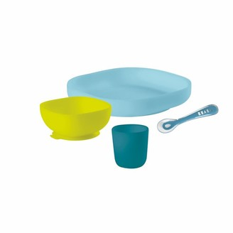 Beaba Suction Silicone Meal Set Peacock