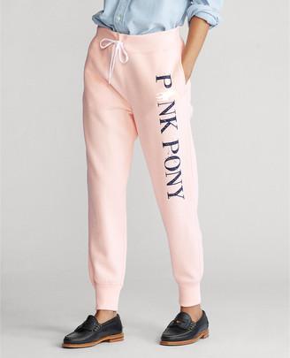 Ralph Lauren Pink Pony Fleece Sweatpant