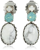"Sorrelli Aegean Sea"" Set-In-Stone Earrings"