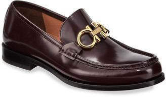 Salvatore Ferragamo Men's Rolo Magnum Twist Loafers