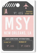 Oliver Gal New Orleans Luggage Tag Wall Art