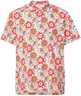 Holiday short sleeved floral shirt