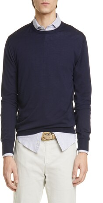 Eleventy Wool & Silk Crewneck Sweater