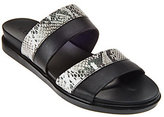 As Is LOGO by Lori Goldstein Two Toned Mixed Media Strap Sandals