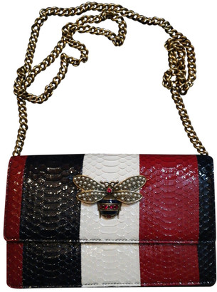 Gucci Queen Margaret Red Python Handbags